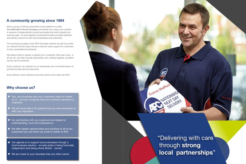 APC Overnight courier sales brochure