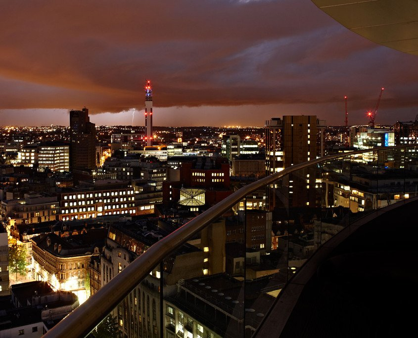 Birmingham city centre night