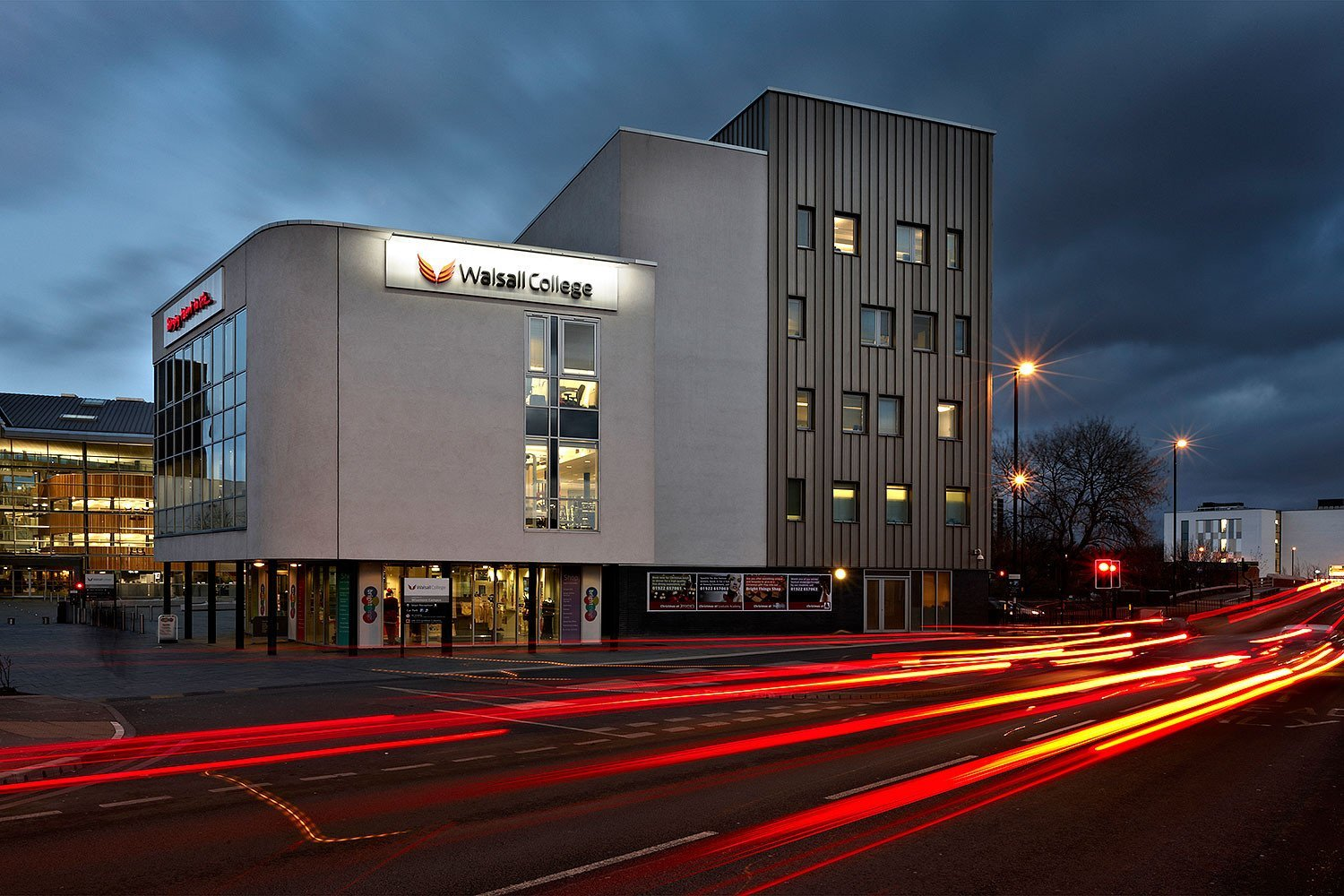 Exterior of Walsall College