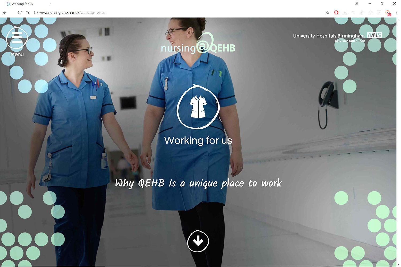 NHS recruitment webiste