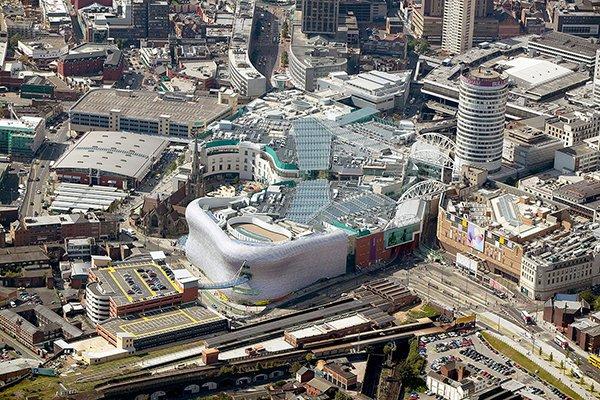 Bullring Birmingham aerial
