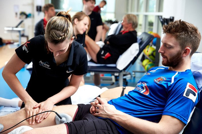 Physiotherapy at the national football centre