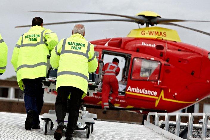 Hospital A&E helipad