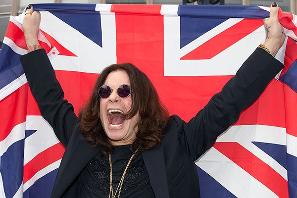 Ozzy Osbourne with Union flag