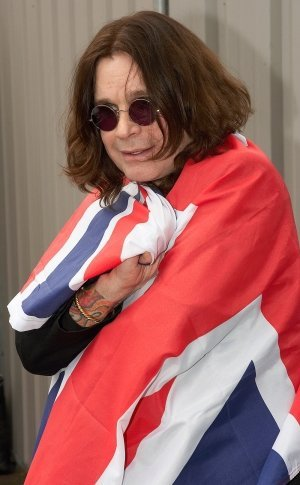 Ozzy Osbourne pictured in his home town of Birmingham
