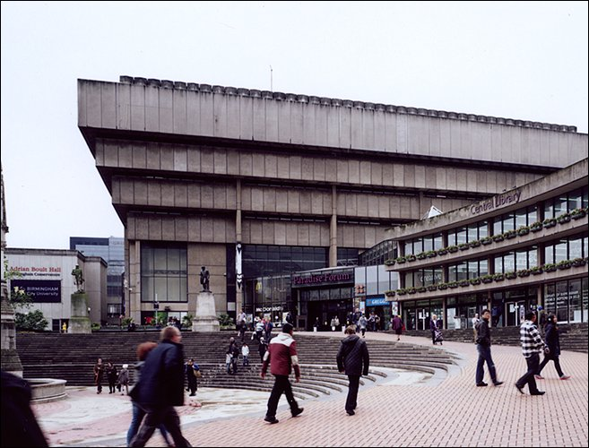 Birmingham central library ziggurat
