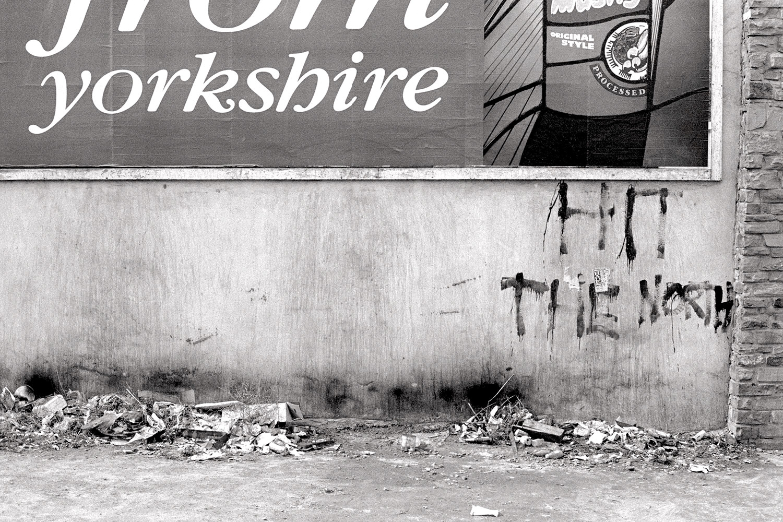 Hit the north the fall Bradford graffiti