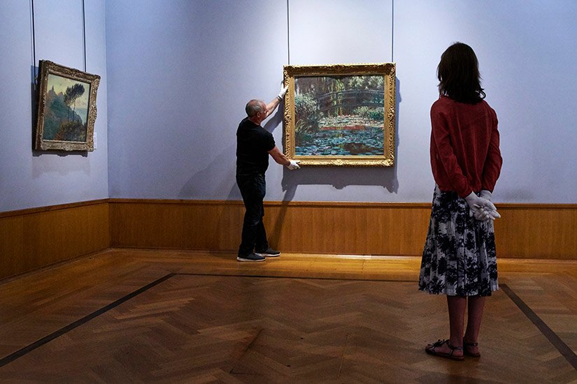 Monet masterpieces goes on display at the Barber Institute of Fine Arts, Birmingham