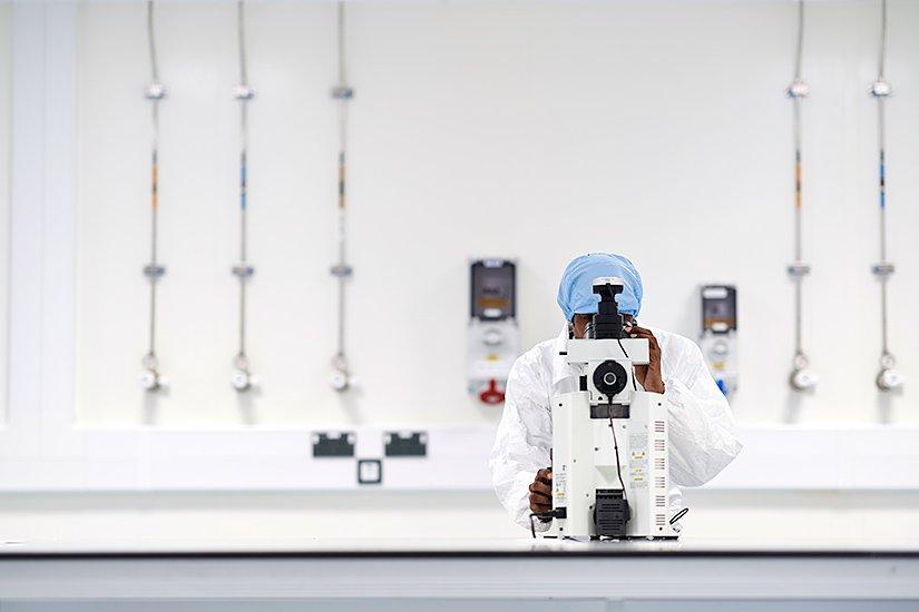 scientist in a university lab