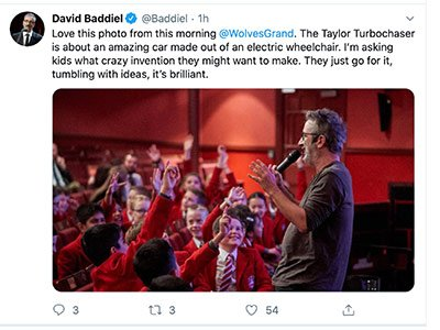 David Baddiel wolverhampton twitter